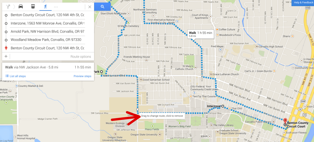 google map edited route