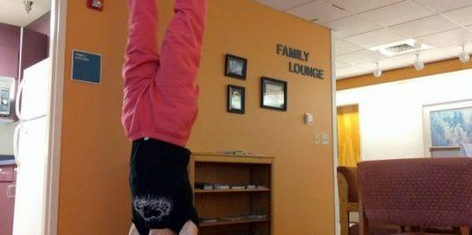 hospital handstand